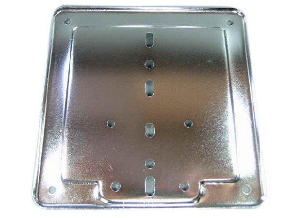 halterung nummernschild kennzeichen chrom ital vespa. Black Bedroom Furniture Sets. Home Design Ideas
