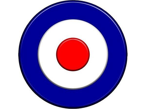 reserveradabdeckung target royal air force f r 8 reifen kunstleder rot wei blau. Black Bedroom Furniture Sets. Home Design Ideas