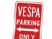 Blechschild VESPA PARKING ONLY L 400mm, B 250mm