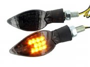 Blinker STR8 Curve LED Black-Line, schwarz-transparent,...