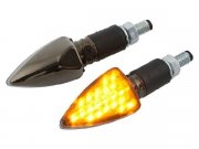 Blinker STR8 LED Black-Line, schwarz chrom, mit...
