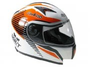 Integralhelm Stage6 MKII RACING, weiß / orange, Größe L,...