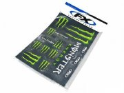 Stickerset (Stickerbogen) Monster Energy, 49x33cm