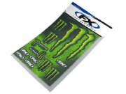 Stickerset (Stickerbogen) Monster Energy XL, 49x33cm