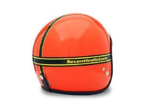 Helm 70`S HELMETS Gr. M, orange, GFK, Jethelm, Limited Edition, Made in Italy