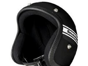 Helm 70`S HELMETS Gr. XS, schwarz, GFK, Jethelm, Limited Edition, Made in Italy