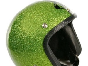 Helm 70`S HELMETS Größe: XS - XL, grün -metalflake, GFK, Jethelm, Limited Edition, Made in Italy