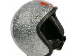 Helm 70`S HELMETS Größe: XS, silber -metalflake, GFK, Jethelm, Limited Edition, Made in Italy